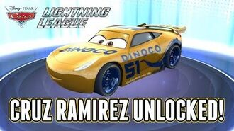Cars Lightning League CRUZ Unlocked & Gameplay! Pixar's Cars 3 Cruz Ramirez!