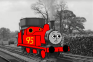 Lightning McQueen the 95 red engine