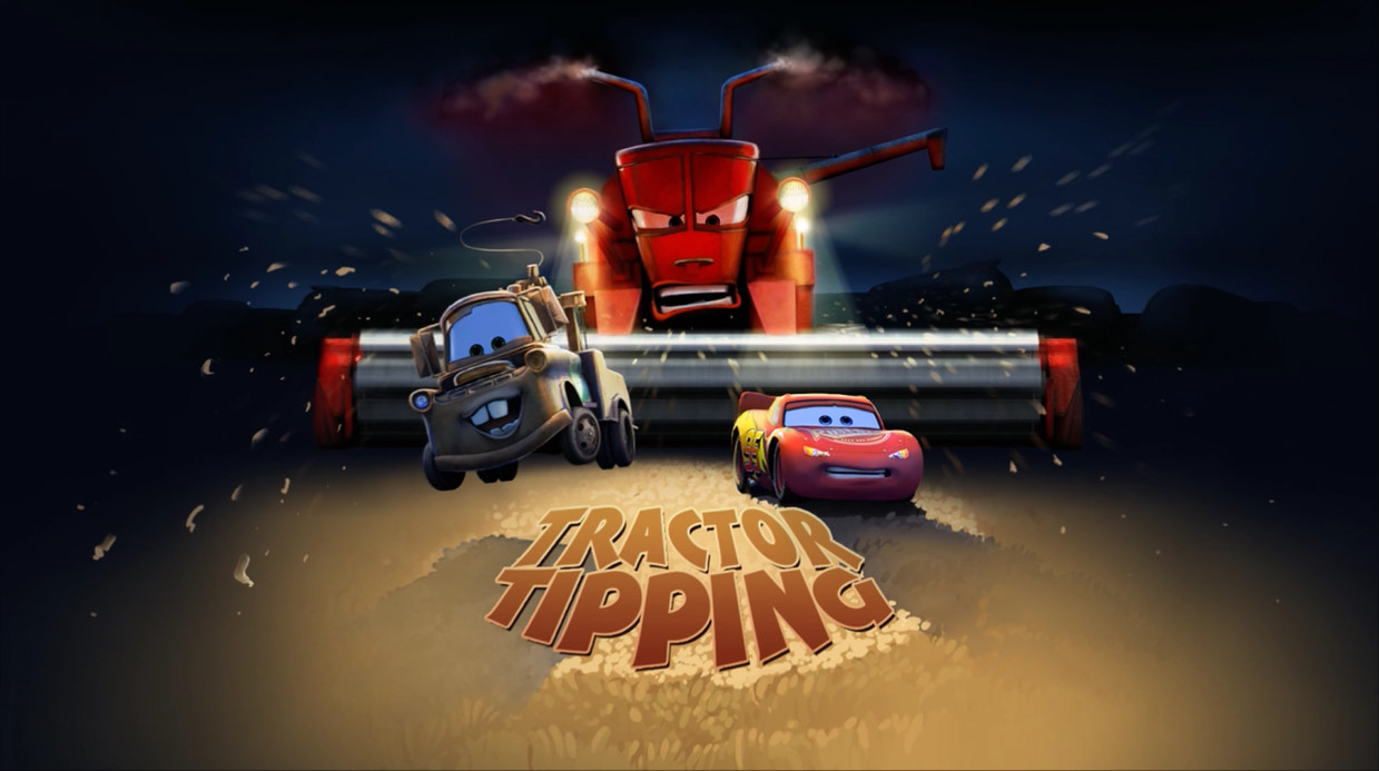 Tractor From Cars : Tractor tipping cars the video game world of