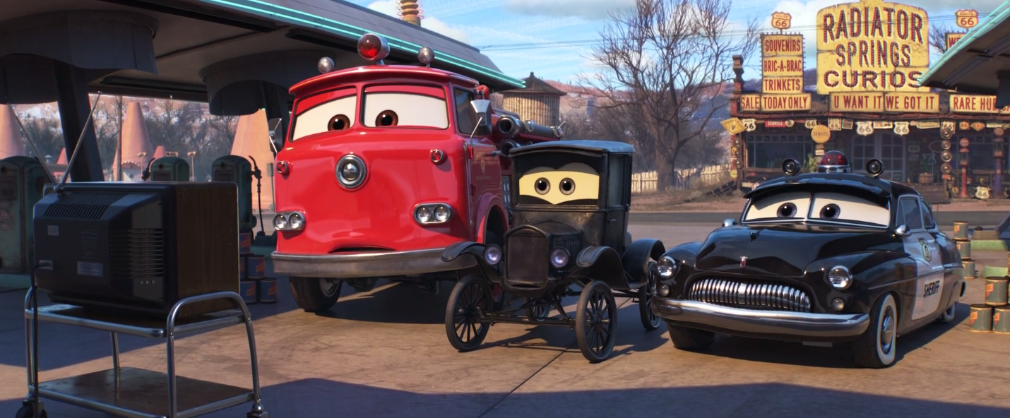 image red lizzie and sheriff cars 3 png world of cars wiki