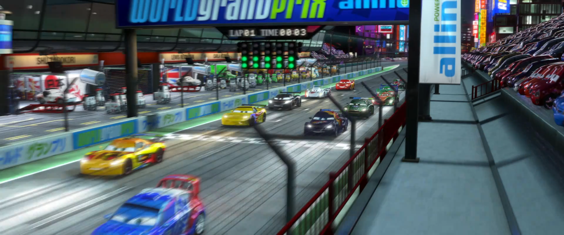 Image - Cars 2 start race tokyo trailer 1.png   World of Cars Wiki ...