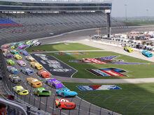 Piston cup race in texas motor speedway by richardchibbard-db2qmp7