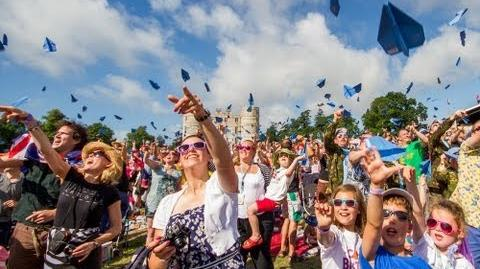 Disney's Planes at Camp Bestival - The UK's Biggest Ever Paper Planes Throw!