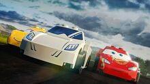 LEGO Stig vs Lightning McQueen Top Gear