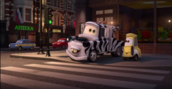 MATER IS A ZEBRA!!!! And why is Guido yellow