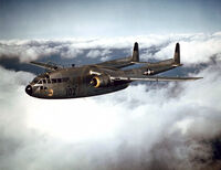 Fairchild C-119B of the 314th Troop Carrier Group in flight, 1952 (021001-O-9999G-016)