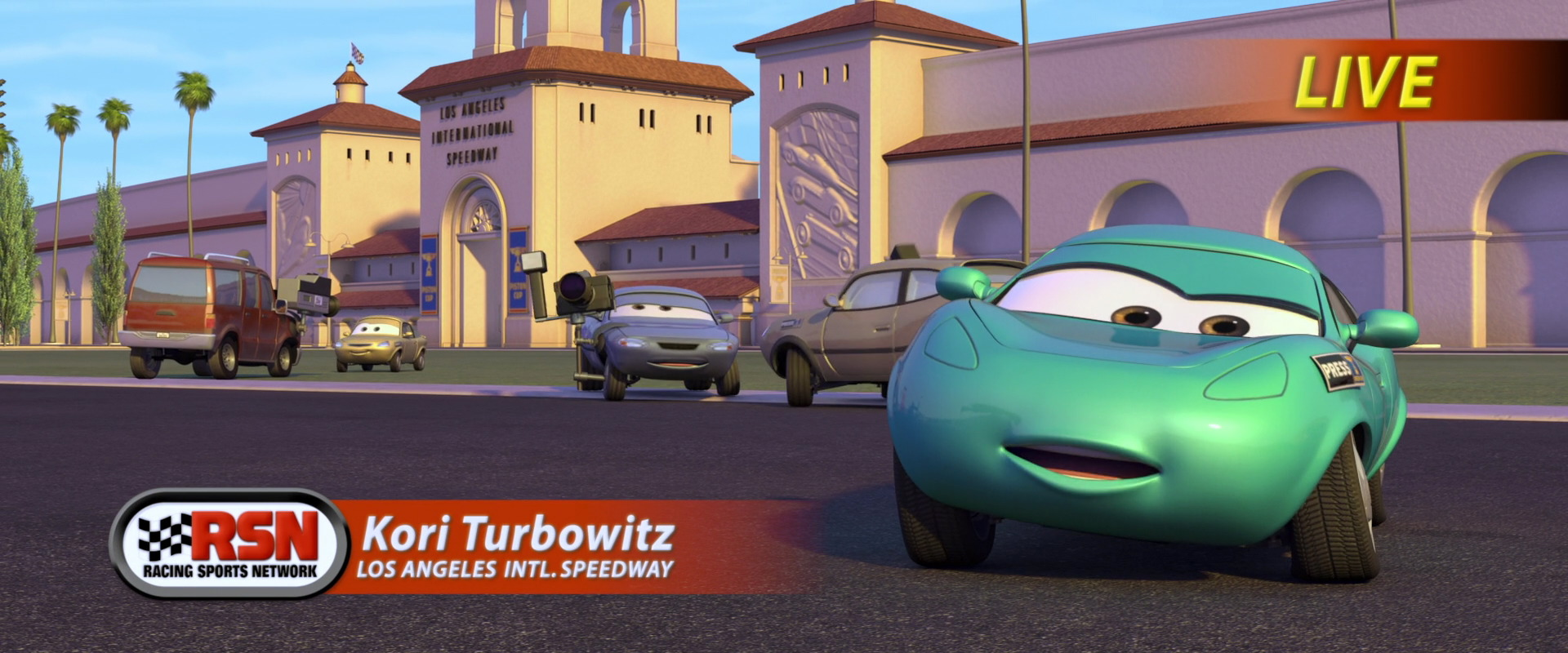 Kori turbowitz world of cars wiki fandom powered by wikia for Motor speedway los angeles