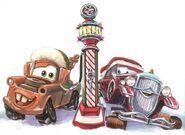 Mater-and-santa-car