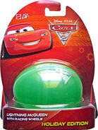 Lightning mcqueen with racing wheels cars 2 egg