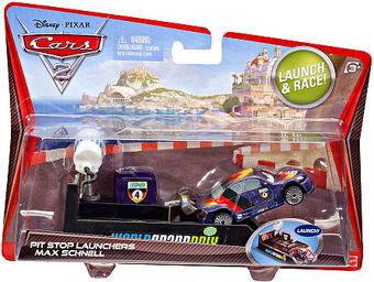 79 2009 DISNEY PIXAR THE WORLD OF CARS LAUNCH /& RACE PIT RACE-OFF RETREAD NO