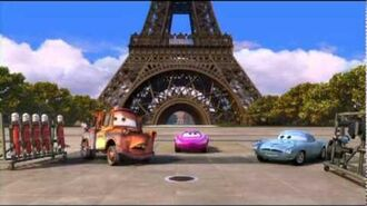 Carros 2 Escola de Espiões - Treinamento em Paris.