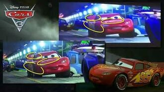 Disney Pixar Cars 3 - Crash Scene Differences (Early and Movie Versions)
