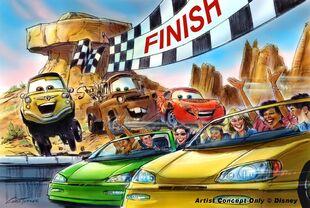 Radiator Springs Racers-concept art