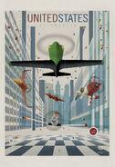Planes vintage poster us
