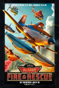 Planes fire rescue poster
