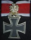 Dorvish Cross with Golden Oak Leaves, Swords and Diamonds