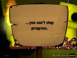 You can't stop progress