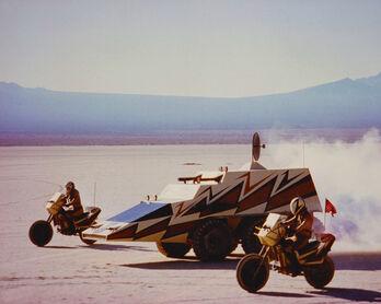 Megaforce command and bikes