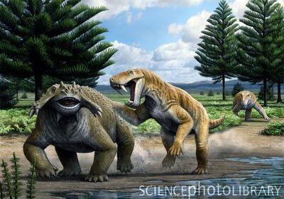 C0103938-Permian animals, artwork-SPL
