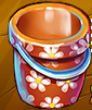 Collection-Flowered Toy Bucket