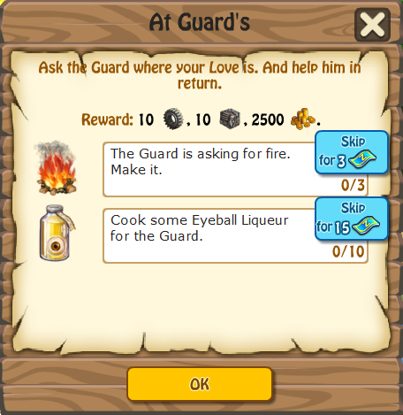 At Guards, Task