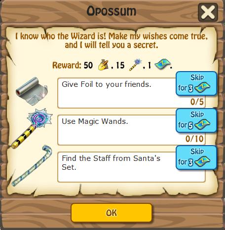 Opossum, Task