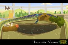 Blue crocodile baby