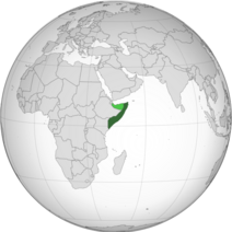 Somalia (orthographic projection)