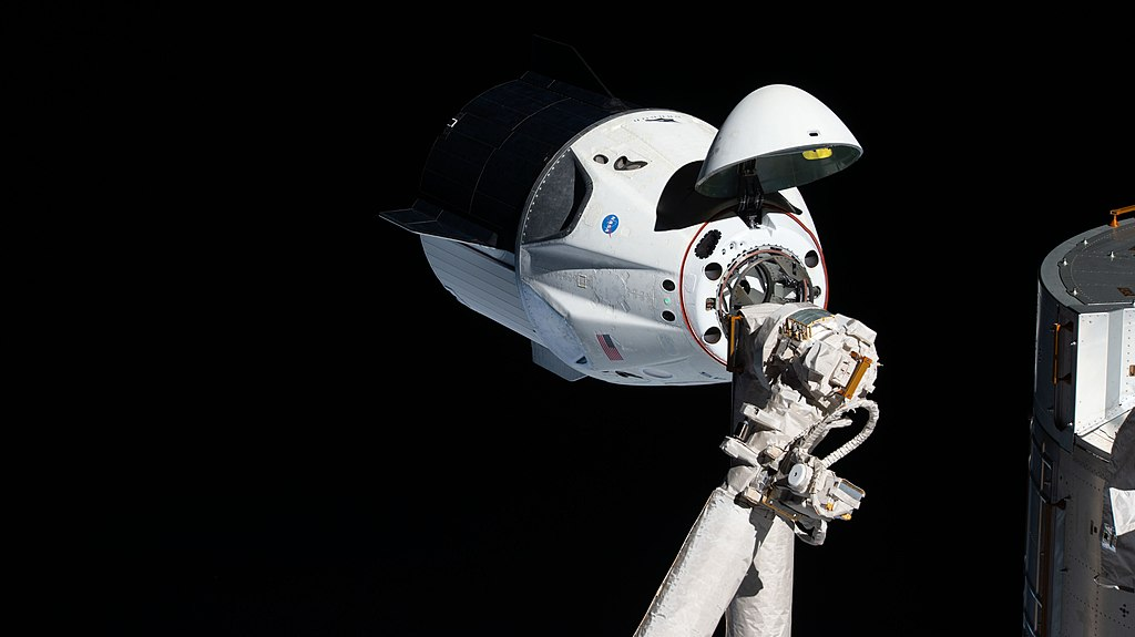 Iss058e027464 The uncrewed SpaceX Crew Dragon spacecraft on approach to the station's Harmony module