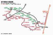 新竹輕軌紅線全、綠線一階路線圖