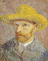 375px-Van Gogh Self-Portrait with Straw Hat 1887-Metropolitan