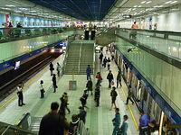 Platform in Jiangzicui Station