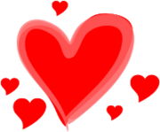 Drawn love hearts svg