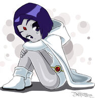 Dc teen titans little white scared raven by darkness1999th-d7amkou