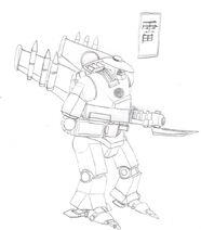 Ikazuchi airborne strike mech by imperator zor-d36dnts