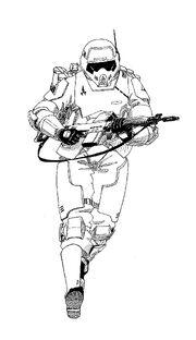 Armor study, Running