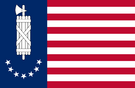 Flag of the American Free State (Military Junta Style)