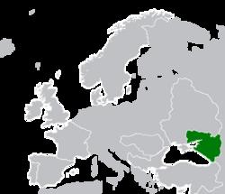 Map Location of Azovia Oct-1920