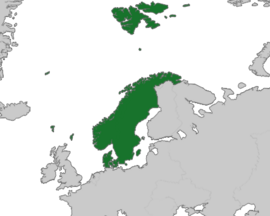 Map Location of the Kingdom of Scandinavia