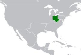Map Location of Virginia Jan-1740