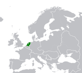 Map Location of the Netherlands Oct-1720
