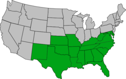 American Free State geographical map (US)