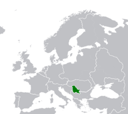Map Location of Serbia Oct-1720