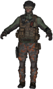 A Mercenary commando