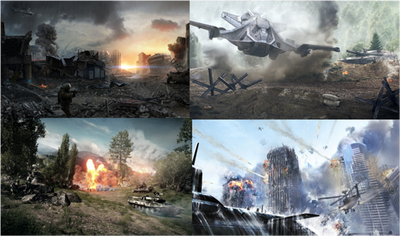 A war montage