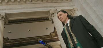 Loki as a human