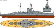 330px-HMS Revenge (1916) profile drawing