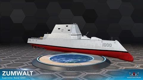World War Online - Zumwalt (Supreme Navy Unit)