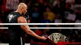Rock unviels the new WWE championship