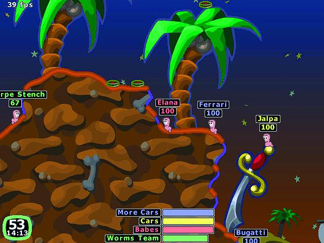 Datei:Worms 2 Game play.jpg